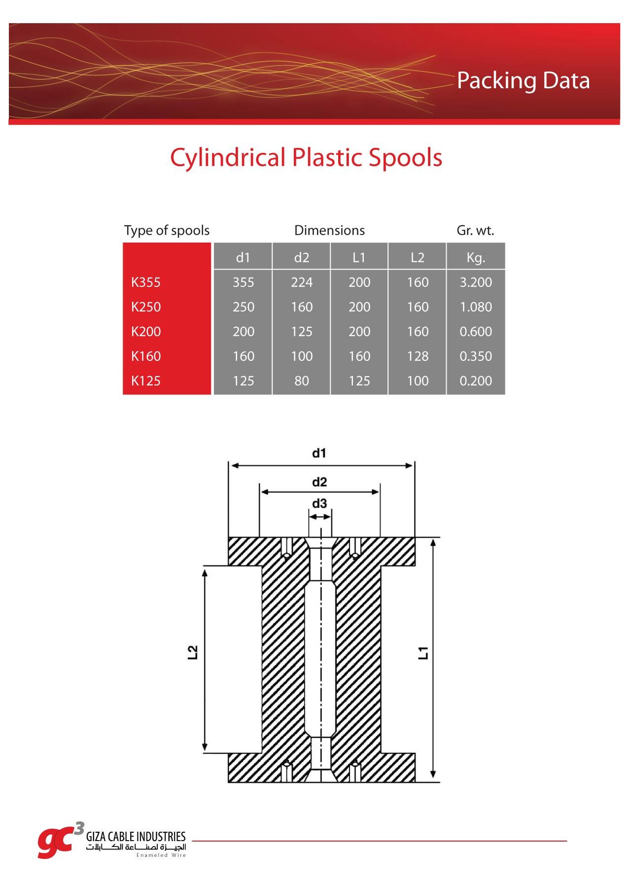Cylindrical Plastic Spools